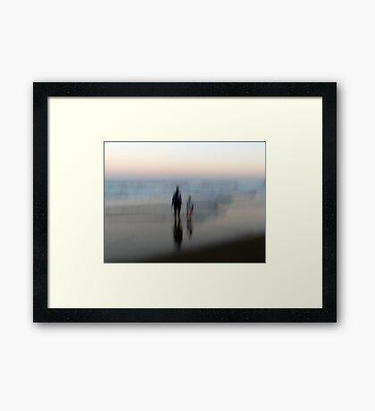 You, Me, the Sea Framed Print