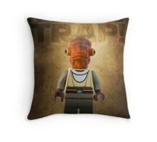 Admiral Akbar -  It's a Trap! - Star wars lego digital art.  Throw Pillow