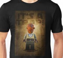 Admiral Akbar -  It's a Trap! - Star wars lego digital art.  Unisex T-Shirt