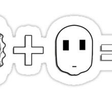 Pie 2 face DISGRACE! Sticker