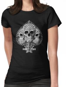 Skull Spade Womens Fitted T-Shirt