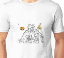 Messi VS Ronaldo Unisex T-Shirt