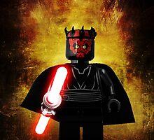 Darth Maul - Star wars lego digital art.  by CBDigitalGoods