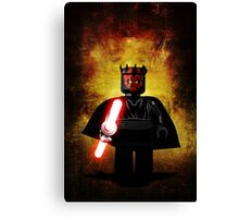 Darth Maul - Star wars lego digital art.  Canvas Print