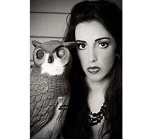 Azais Wih Owl Photographic Print