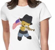 Hooray for the red, white and blue Womens Fitted T-Shirt