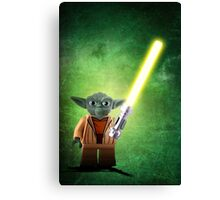 Yoda - Star wars lego digital art.  Canvas Print