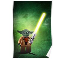 Yoda - Star wars lego digital art.  Poster