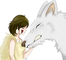 Mononoke And Wolf by DuchessCookie