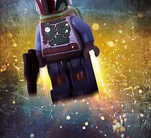 Boba fett - Star wars lego digital art.  by CBDigitalGoods