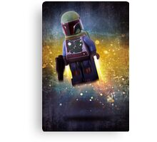 Boba fett - Star wars lego digital art.  Canvas Print
