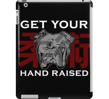 """Get Your Hand Raised"" - Jiu Jitsu Bulldog iPad Case/Skin"