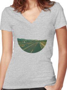 Skyless Composition | Seven Women's Fitted V-Neck T-Shirt