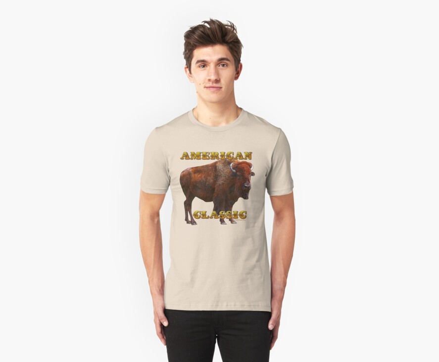 American Classic Buffalo by ©Fractal Tees by Artlife