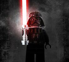 Darth Vader - Star wars lego digital art.  by CBDigitalGoods