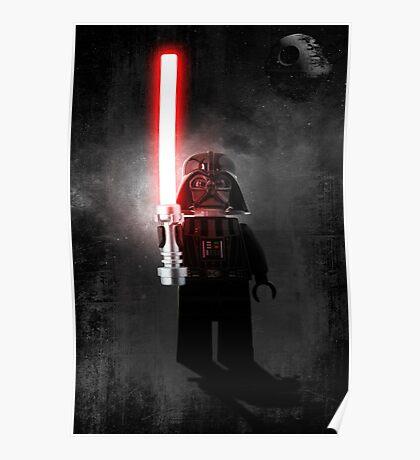 Darth Vader - Star wars lego digital art.  Poster