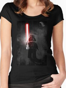 Darth Vader - Star wars lego digital art.  Women's Fitted Scoop T-Shirt