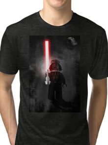Darth Vader - Star wars lego digital art.  Tri-blend T-Shirt