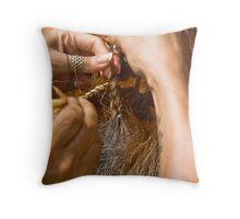 The art of plaiting Throw Pillow