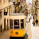Yellow tram in  Lisbon, Portugal  by 7horses