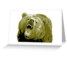 Gold Grizzly Bear Greeting Card