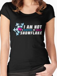 A beautiful and unique snowflake. Women's Fitted Scoop T-Shirt