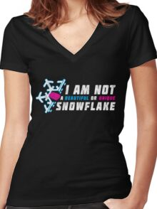 A beautiful and unique snowflake. Women's Fitted V-Neck T-Shirt