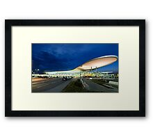 Blue hour Airport Framed Print