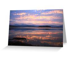 Lake Jindabyne Sunset, Australia Greeting Card