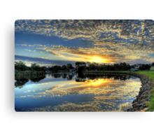 """ Sunrise on the Brodribb River Marlo Vic "" Canvas Print"