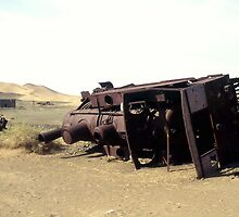 Derelict Turkish engine on Hejaz Railway, Saudi Arabia. by Peter Stephenson