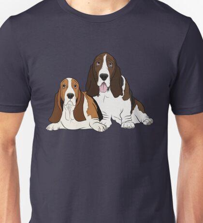 Two Bassets  Unisex T-Shirt