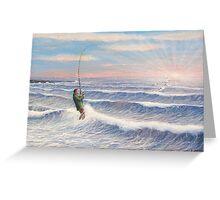 Sunrise Striper Greeting Card