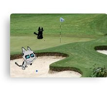Cats Playing Golf Canvas Print