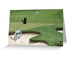 Cats Playing Golf Greeting Card