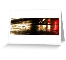 Wet Streets Greeting Card