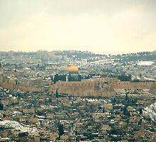 Snow on Jerusalem . by zangi12