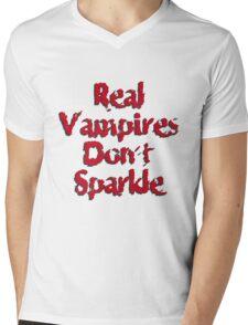 Real Vampires Don't Sparkle Mens V-Neck T-Shirt