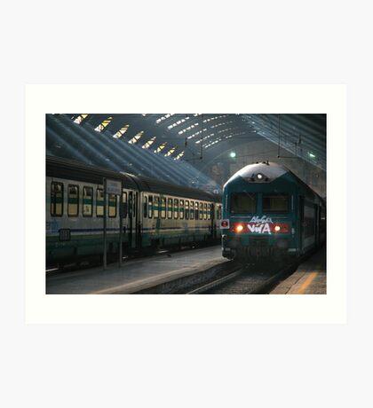 Milano Train Station, Early Morning Art Print