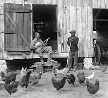 Barnyard Banjo Player, 1927 by historyphoto
