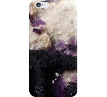 Bertrandite with Rare Cubic Fluorite on Massive Fluorite and Calcite iPhone Case/Skin