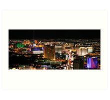 Las Vegas as seen from The Stratosphere Art Print