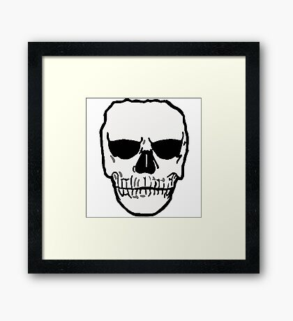 Put your game face on. Framed Print