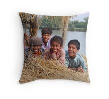 Happiness in Small Things Throw Pillow