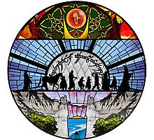 LOTR - Stained Glass Photographic Print