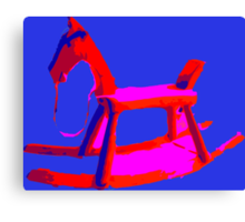 Rocking Horse in Blue Canvas Print