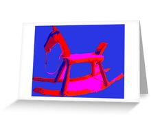 Rocking Horse in Blue Greeting Card