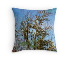 Water Color Painting in a Ditch  Throw Pillow