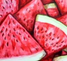 Ripe Juicy Watermelon Slices Sticker