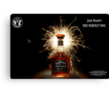 Party Time with Jack Daniels  Canvas Print